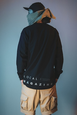 """LOCAL MAGAZINE 1ST ISSUE """"STRAIGHT"""" L/S TEE [PLANETNAVY]"""