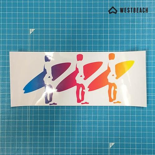 WESTBEACH CLASSIC STICKER -スリーサーファーズ -1枚