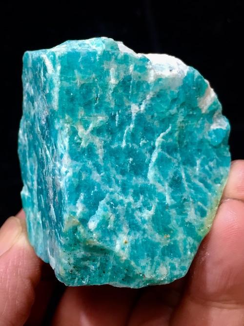 4) ロシアン・アマゾナイト原石
