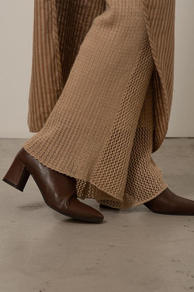 two pattern knit pants