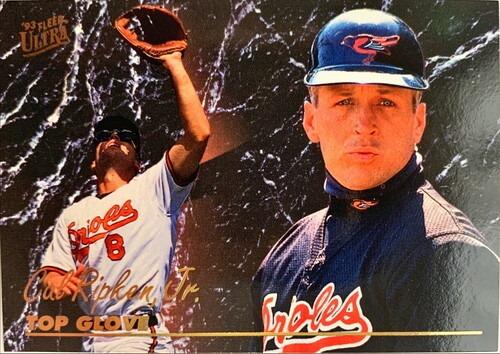 MLBカード 93FLEER Cal Ripken JR TOP GLOVE #015 ORIOLES