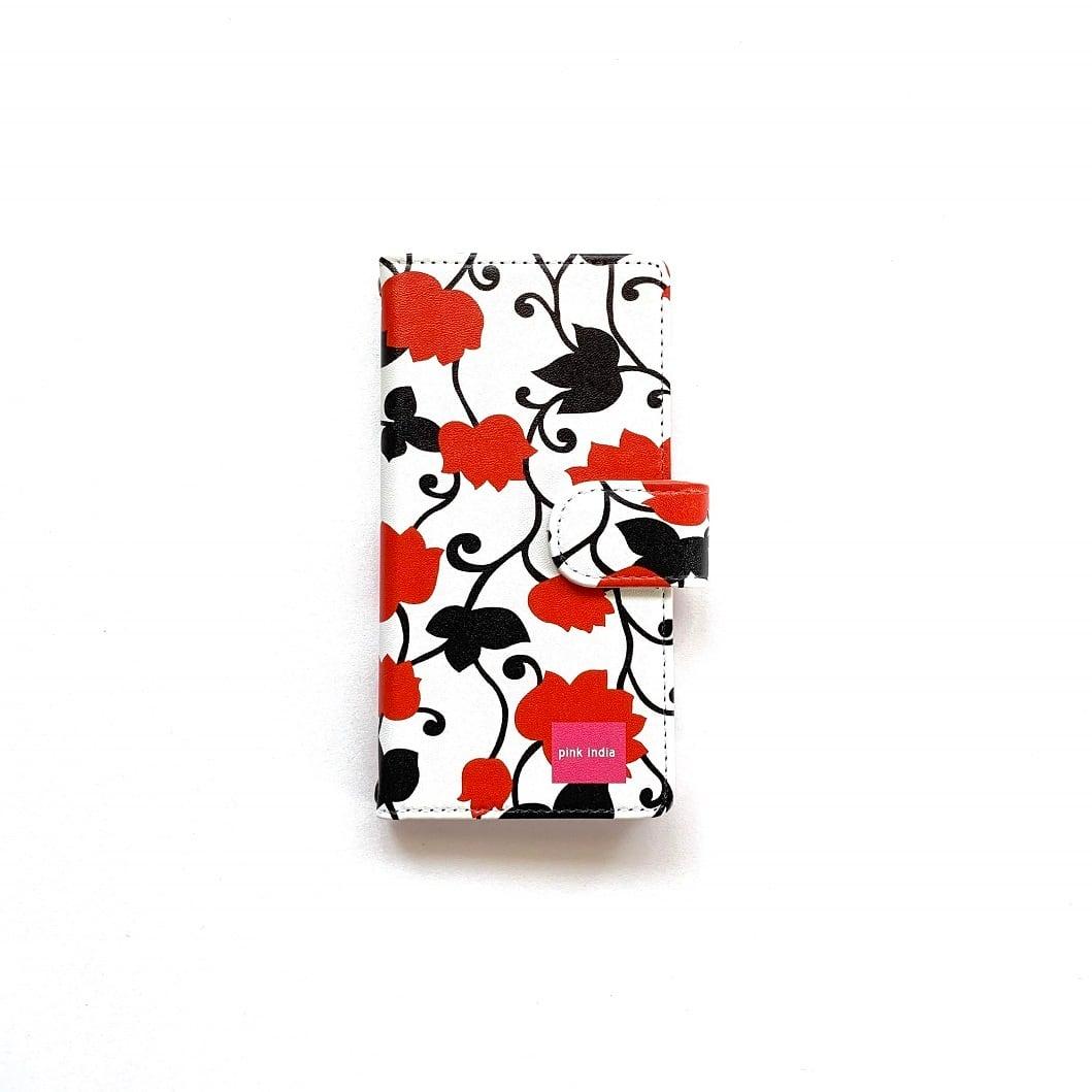 北欧デザイン iPhone手帳型ケース    matthew red