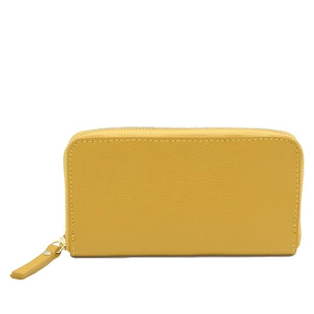 イタリア製 本革 長財布 財布 オリンダ イエロー