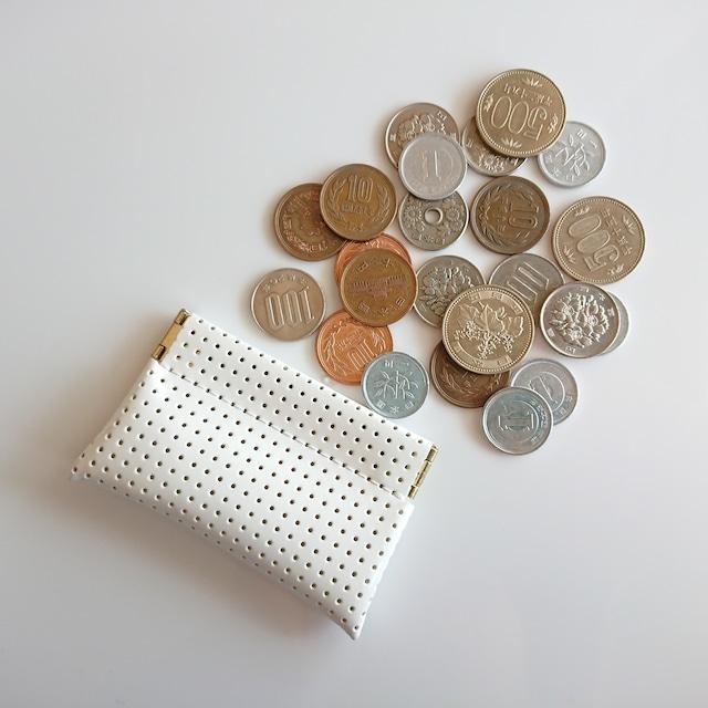OSORO コインケースmini ☆ ミルク 小銭に指が届く 小さいけどたっぷりのコインを収納