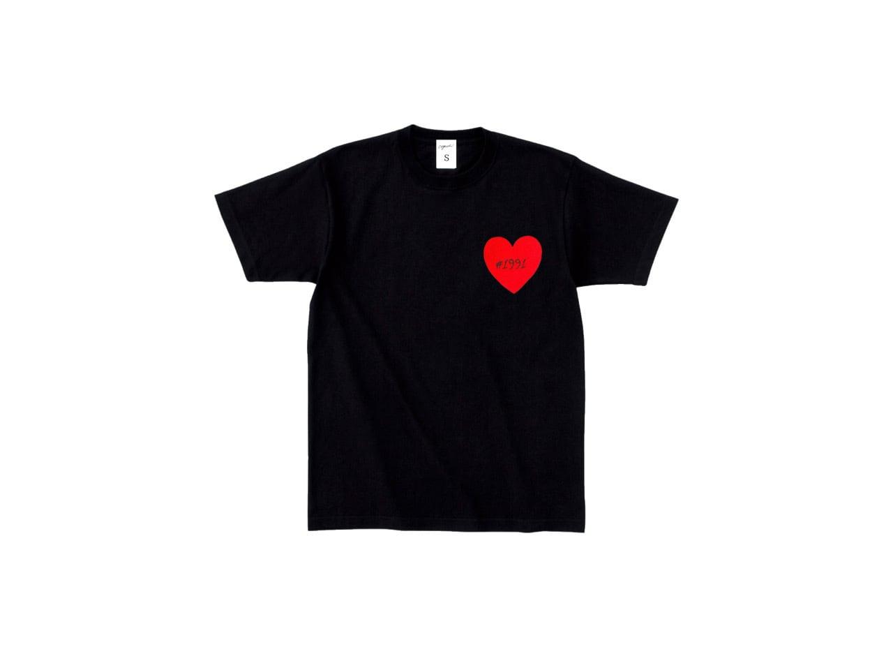 1991 Heart Patch T-shirts (BLK)