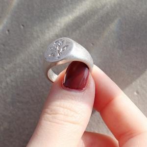 RING || 【通常商品】ROSE ENGRAVED SIGNET RING   || 1 RING || SILVER || FBF165