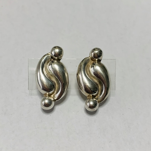 Vintage Geometric Silver Earrings Made In Mexico