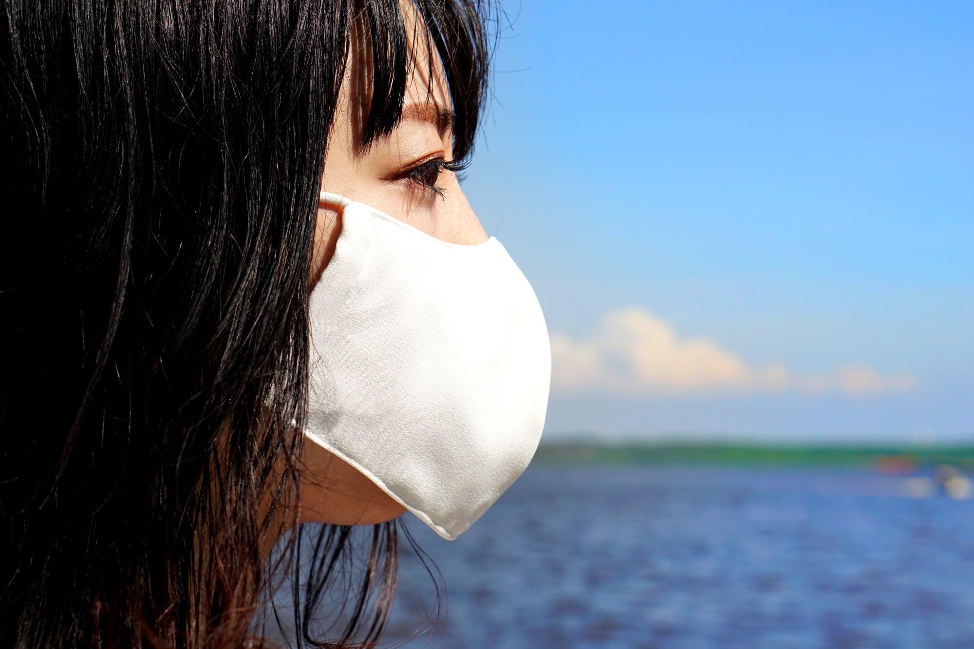 蒸れない「風洞マスク」/ホワイト【男女兼用】