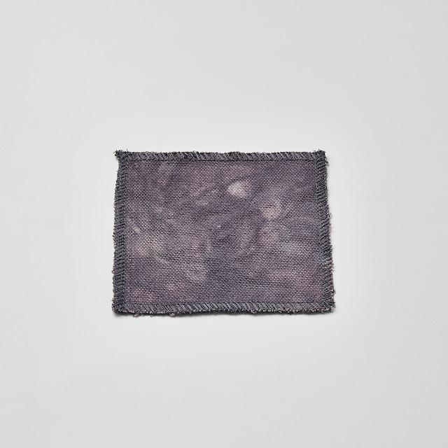 帆布で作ったコースター(グレー) 10cm×10cm