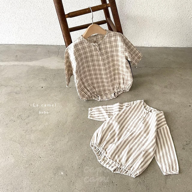 «sold out»«baby» La camel buddy suit 2color バディロンパース
