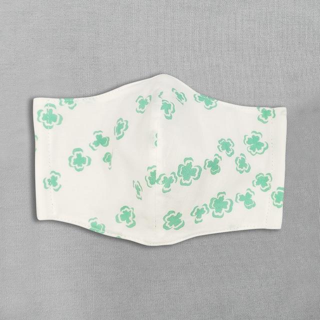 デザイナーズ マスク|よつ葉|緑