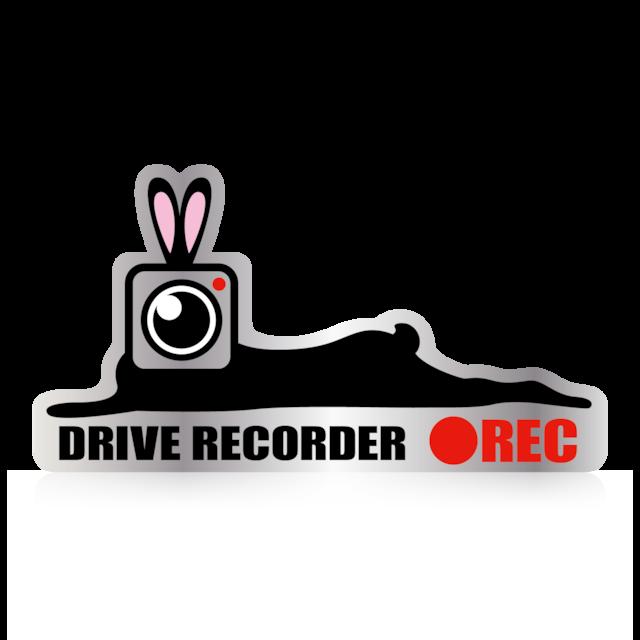 カメラうさぎ ●REC ドライブレコーダーステッカー