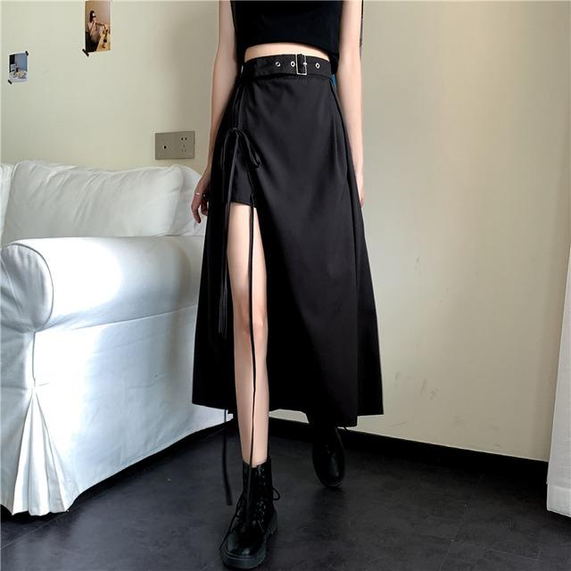 【ボトムス】カジュアル個性的シンプルストリート系ファッション不規則スカート42259970