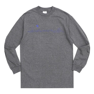 WHIMSY / CITY LIGHT L/S TEE -CHACOAL HEATHER-
