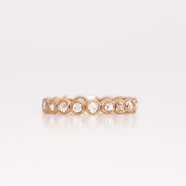 Rosecut diamond full eternity ring / Round