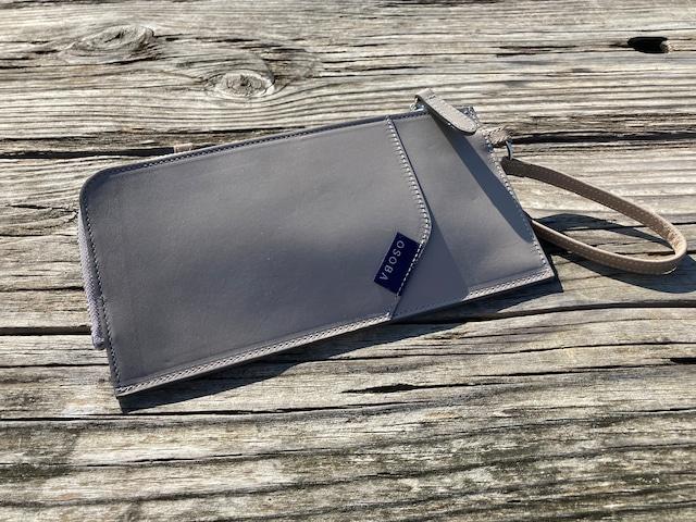 WalkWith2 ローズグレイ【OSOBA 3way wallet】