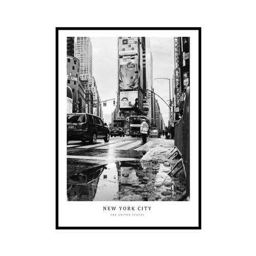 """NEW YORK CITY"" US - POSTER [SD-000592] A4サイズ フレームセット"