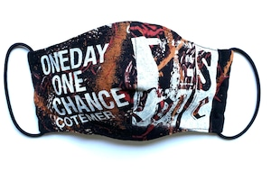 【COTEMER マスク 日本製】ONE DAY ONE CHANCE BAND × PRINT MASK 0429-112