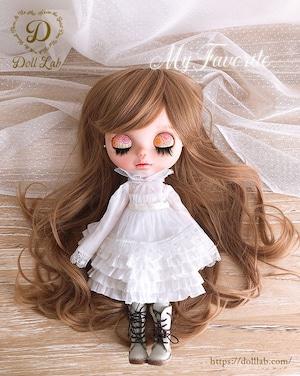 プリンセスシフォン[12inch 髪ありブライス ]オレンジブラウン  DWL009-A016-12in