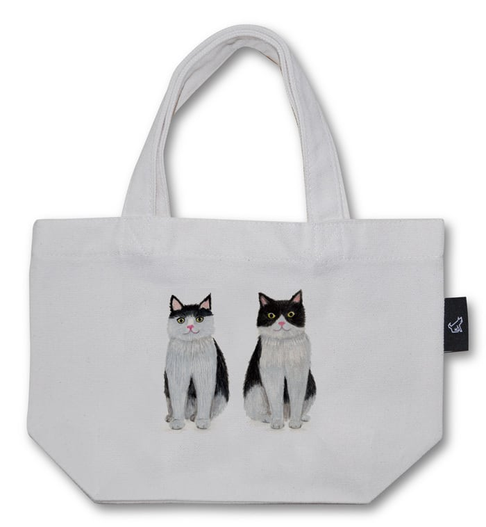 狛猫ブラザーズ トートバッグ (Sサイズ)品番:mot-s-01