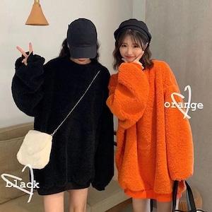 【トップス】カジュアルキュート無地ファッション暖かいパーカー36539056