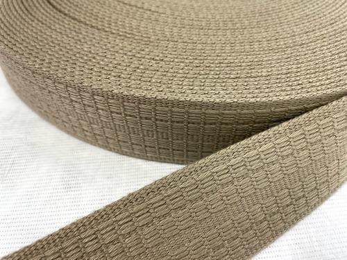 デザインすれば実現できるかもしれない! こんな織柄もできます。アクリル 38㎜幅 ベージュ 10m