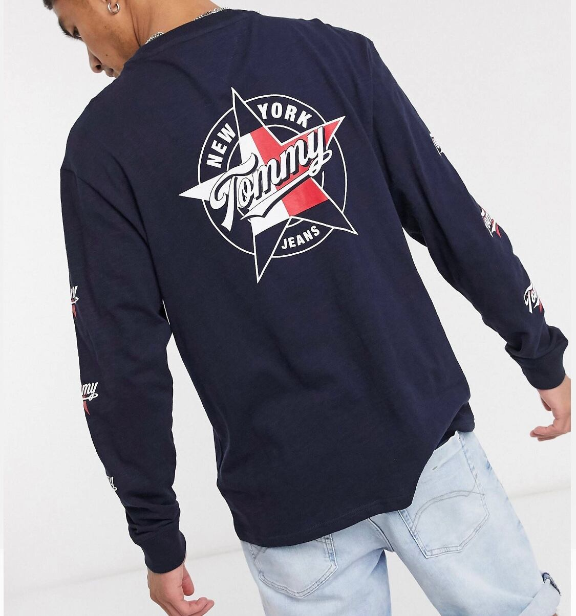 Tommy Jeans round front and back logo long sleeve
