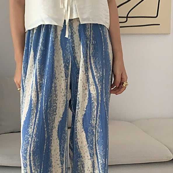 Elastic wide pants(エラスティックワイドパンツ)a-420