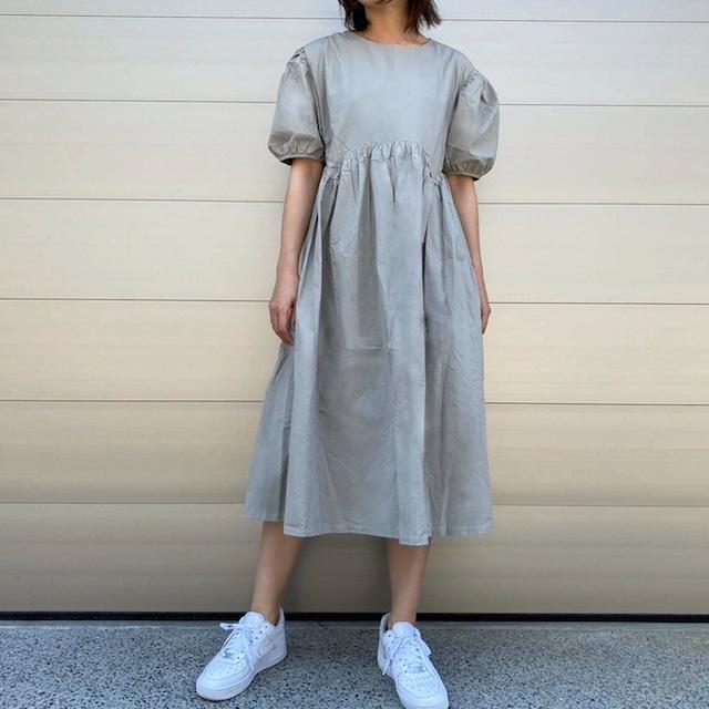 【WOMENS - 1 size】DRAWSTRING DRESS / Grey