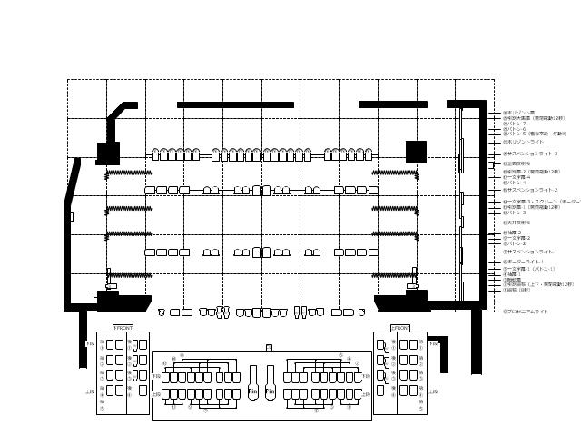 劇場図面 カメリアホール