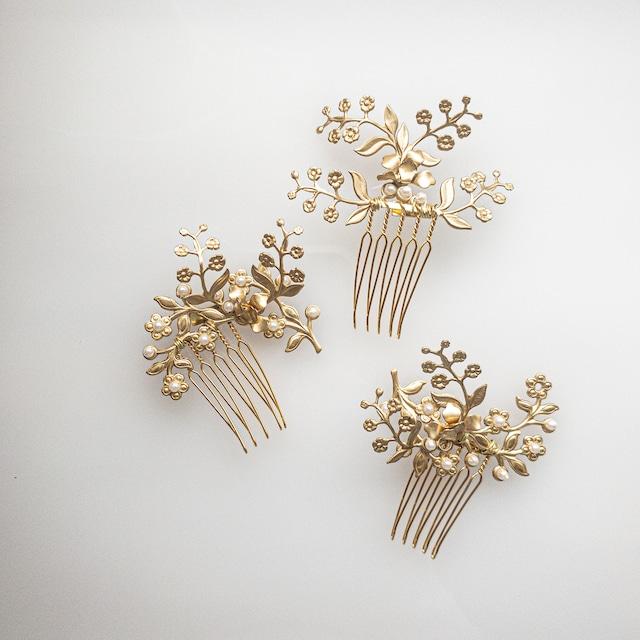 mini flower ヘッドドレス3P set
