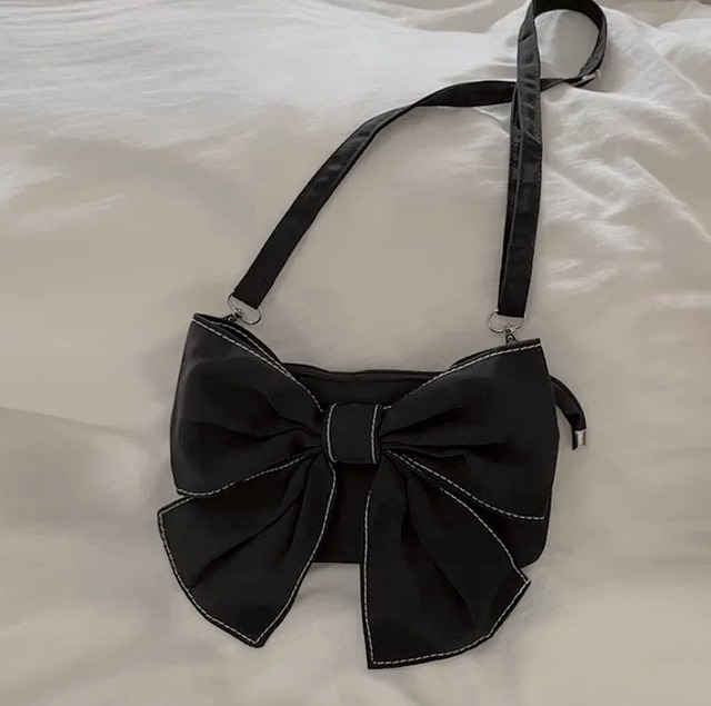 ribbon shoulder bag