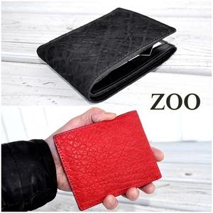 ZOO ズー BADGERBILLFOLD11 バジャービルフォールド11 財布 レザーウォレット 二つ折り 送料無料 象革    ZBF-013