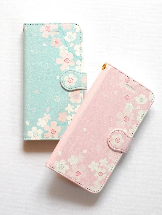 さくら2 iPhone/Android ケース【受注制作】手帳 アイフォンケース スマホケース