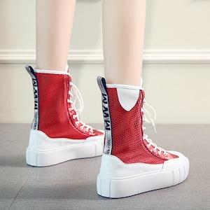 【シューズ】透かし彫りストリート系ファッションブーツ42919184