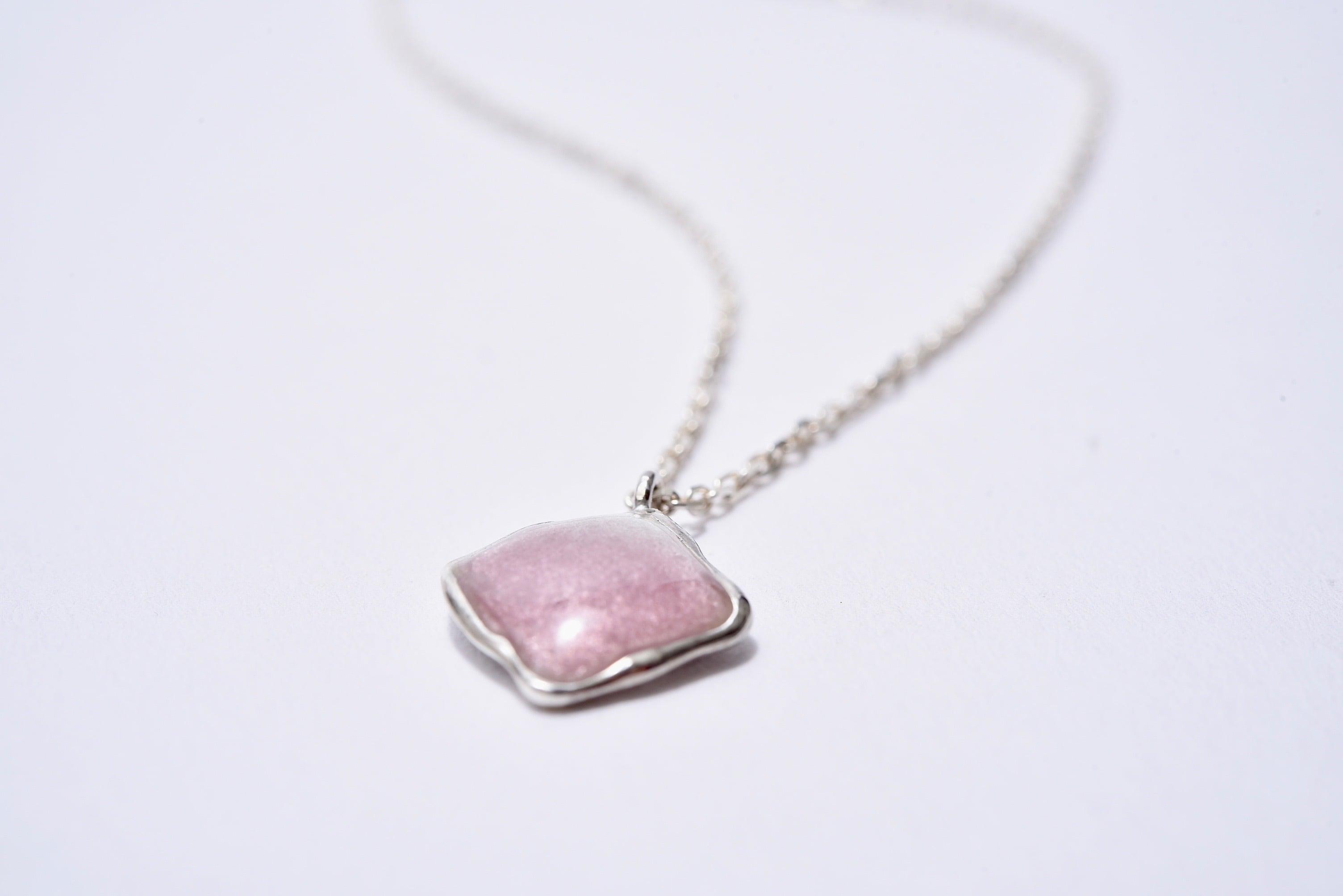 七宝ネックレス - ニュアンスカラー  薄ピンク