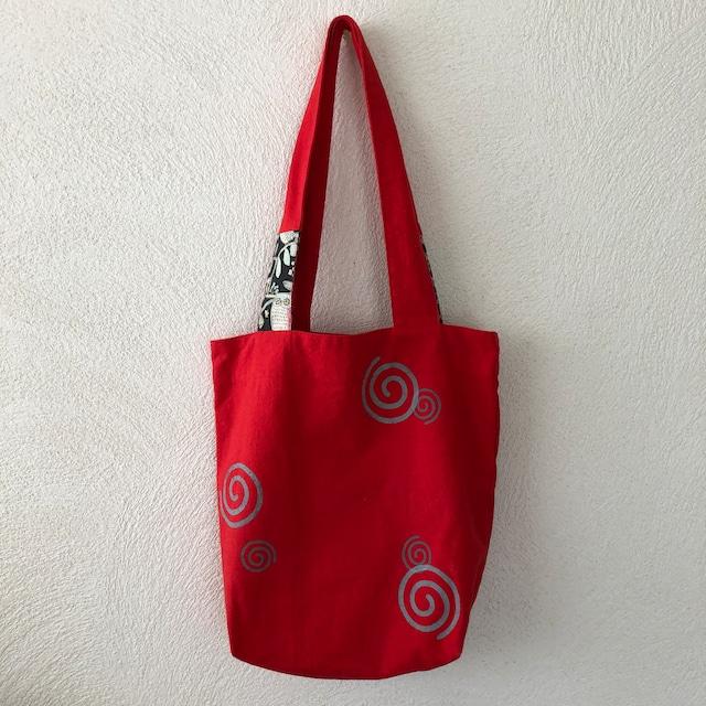 おさんぽトートM「guruguru-red」mt0815-1