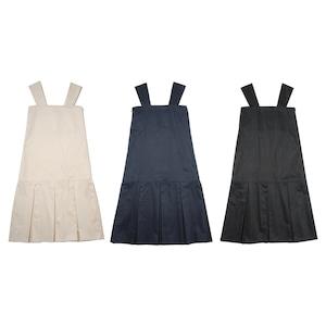 flare pleats jumper skirt