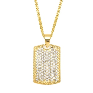 Iced Out Army Necklace