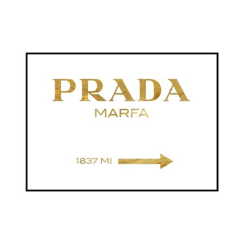 """PRADA MARFA 1837 MI"" Gold marble - POSTER [SD-000563] A4サイズ フレームセット"