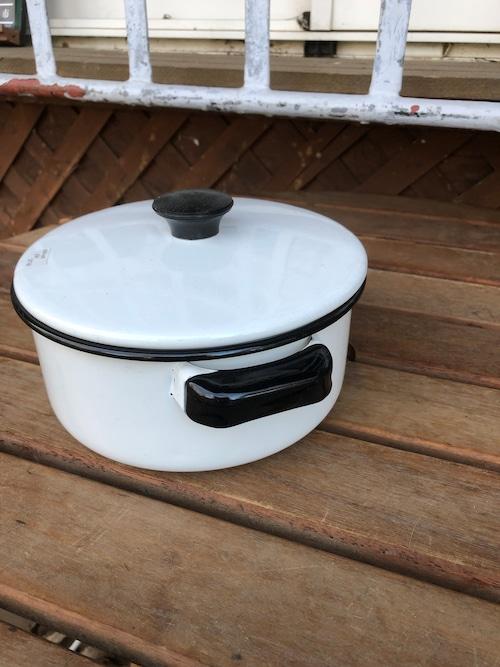 アメリカ製  ホーロー鍋