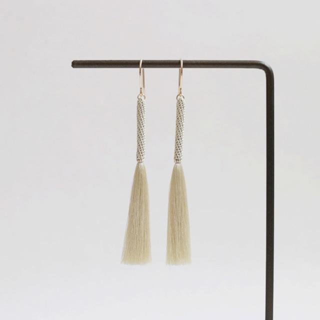 【tassel】stick (beige / marron / ivory)