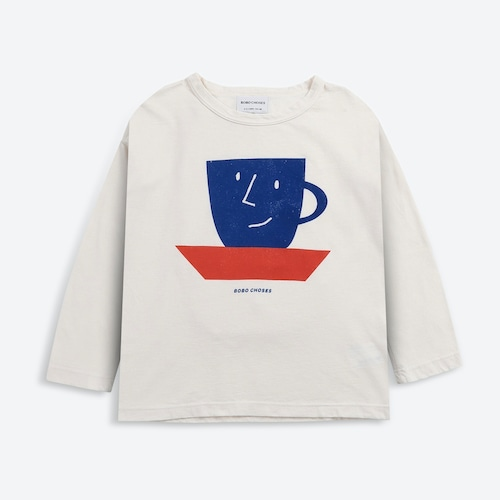 《BOBO CHOSES 2021AW》Cup Of Tea long sleeve T-shirt / 2-7Y