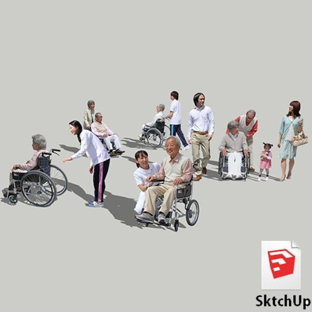 人物SketchUp 4p_set042 - メイン画像