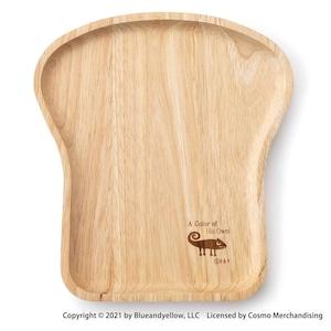 レオ・レオニ ブレッドトレー 木製 パン皿 約18×20cm カメレオン 278503