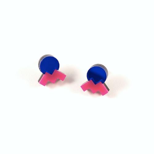 "MYSTIC FORMS""Geometric Perspex Statement Mini Earrings"" ピアス  FORM013"