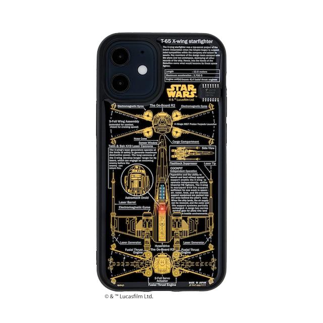 FLASH X-WING 基板アート iPhone 12 mini ケース 黒【東京回路線図A5クリアファイルをプレゼント】