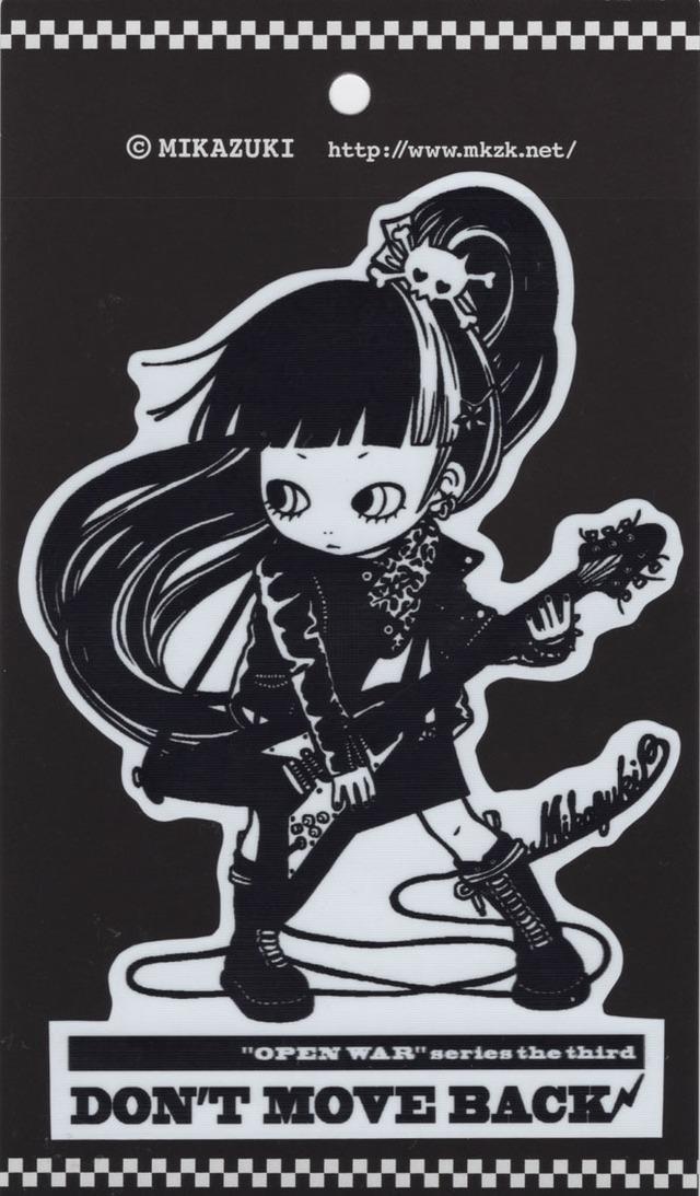 MIKAZUKI / ミカヅキ BIG ステッカー DON'Tシャツ MOVE BACK ダイカット [ BS-11 ]