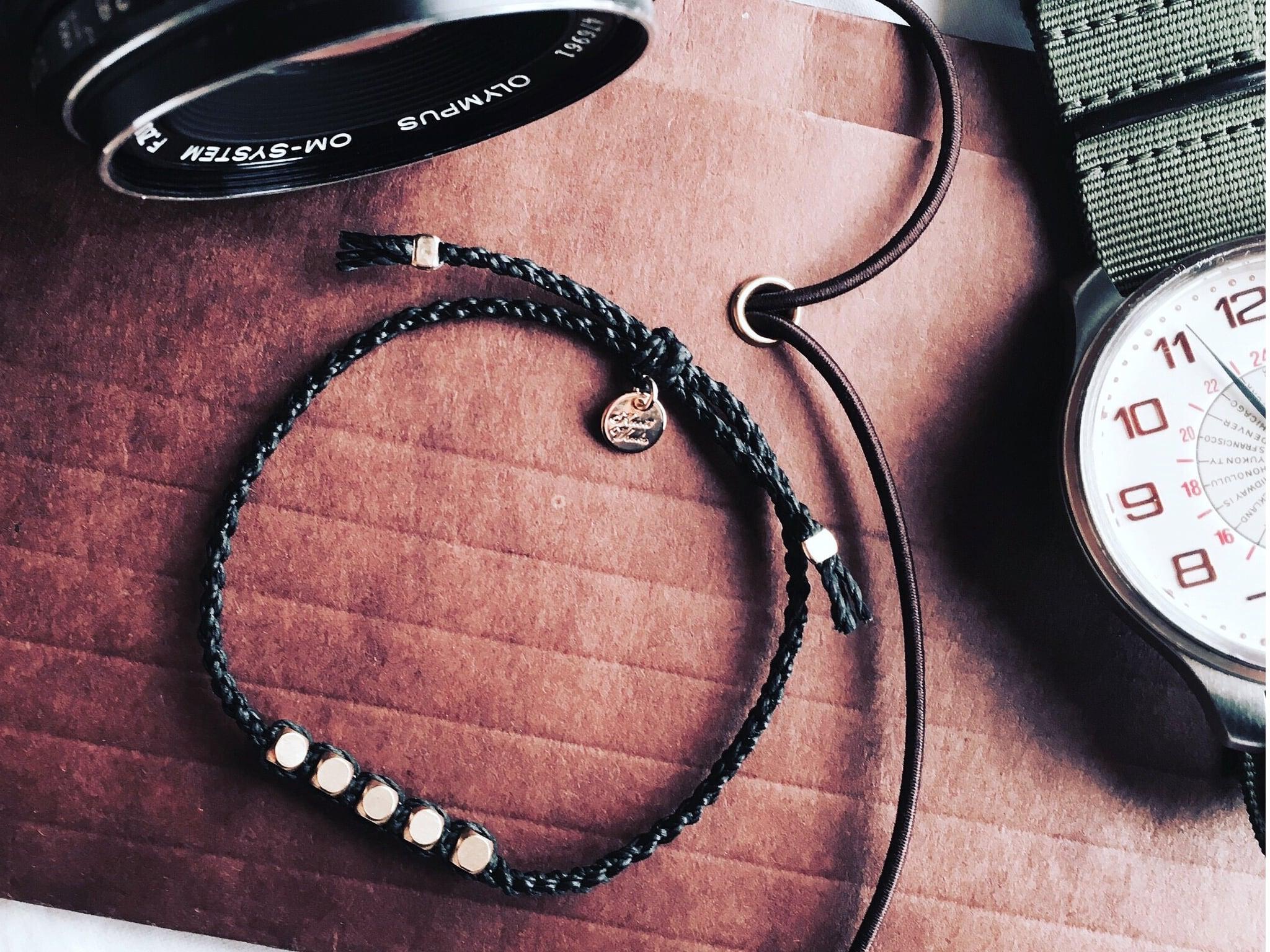Brass Beads Bracelet/Black×Silver[真鍮ブレスレット]