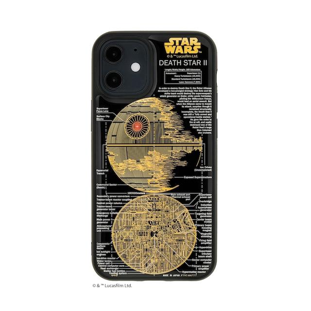 FLASH DEATH STAR 基板アート iPhone 12 miniケース 黒【東京回路線図A5クリアファイルをプレゼント】